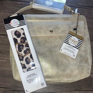 COPY - NWT large original gold planner purse w/st…